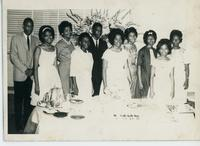 Booker T. Washington Junior College Students at a Formal Event