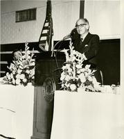 Dr. Jonas Salk Speaking at Pensacola Junior College